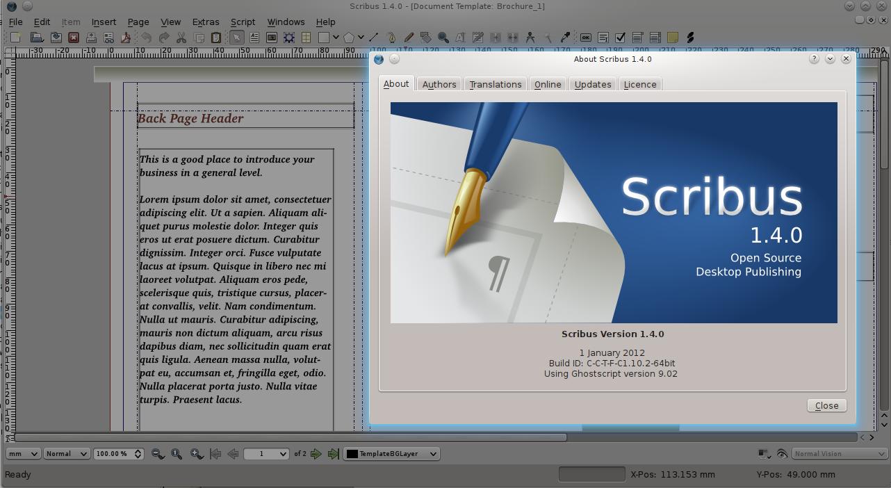 Scribus-1.4.0